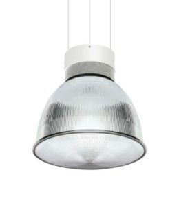 Omega LED Ribbed Pendant Light Conical Lens