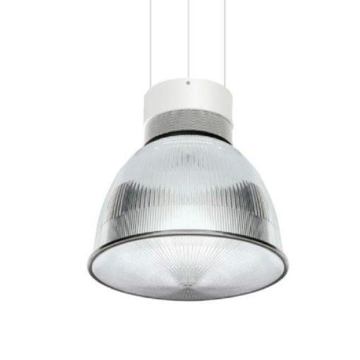 Omega LED Ribbed Pendant Light Conical Lens