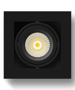 Scout LED Surface Mounted Luminaire_BK_Face_On
