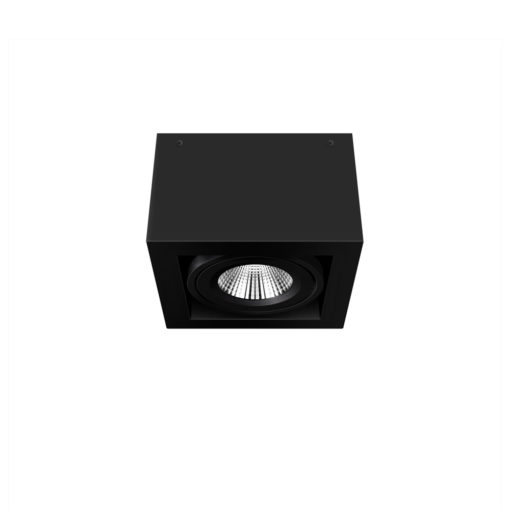 Scout LED Surface Mounted Luminaire_BK_WB_Ambient