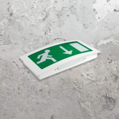 Curved Emergency Exit Light