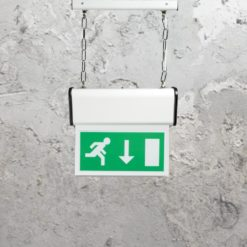 Suspended Emergency Exit Light