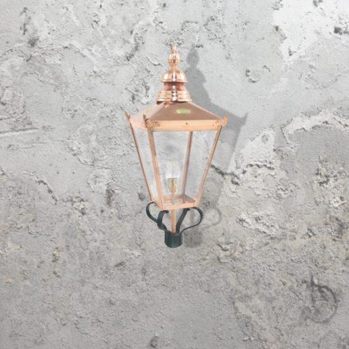 Architectural Post Top Copper Lantern