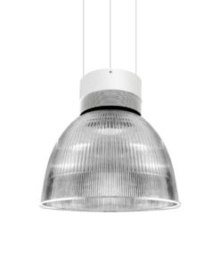 Omega LED Ribbed Pendant Light